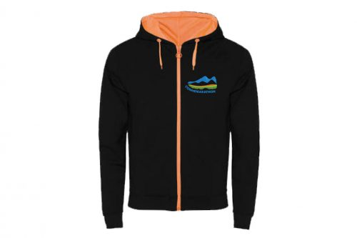 Connemarathon Hoodie - Black/Orange